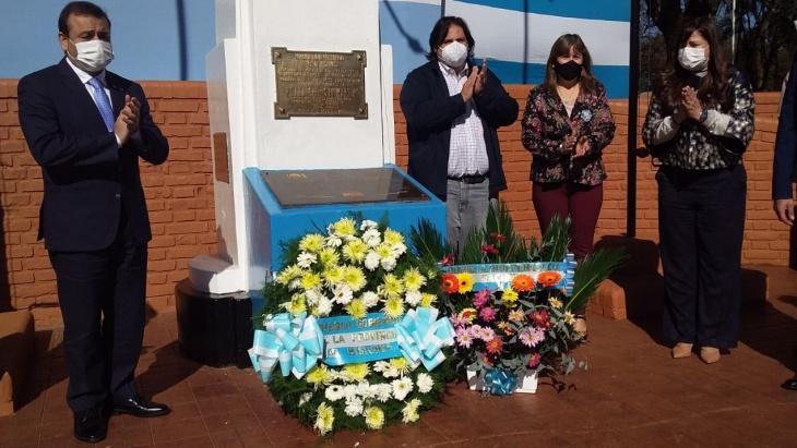 Herrera Ahuad encabezó el acto central por el 205 aniversario del Día de la Independencia