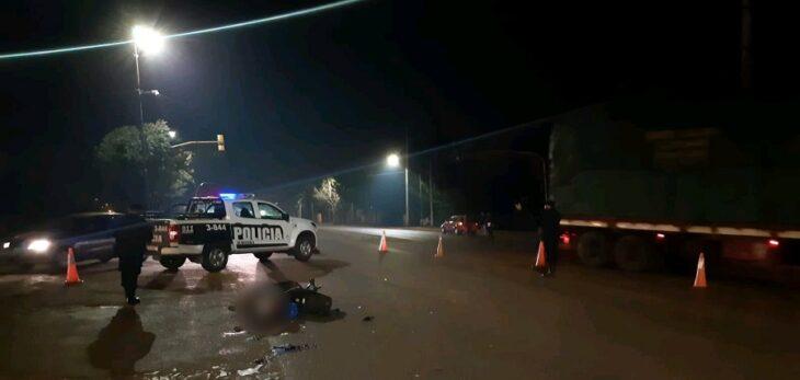 Adolescente de 14 años que manejaba una moto falleció tras un choque en Wanda