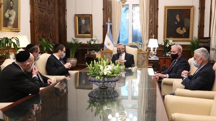 El Presidente recibió a las máximas autoridades de la AMIA