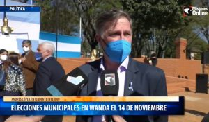 Wanda va a las urnas el 14 de noviembre para elegir intendente