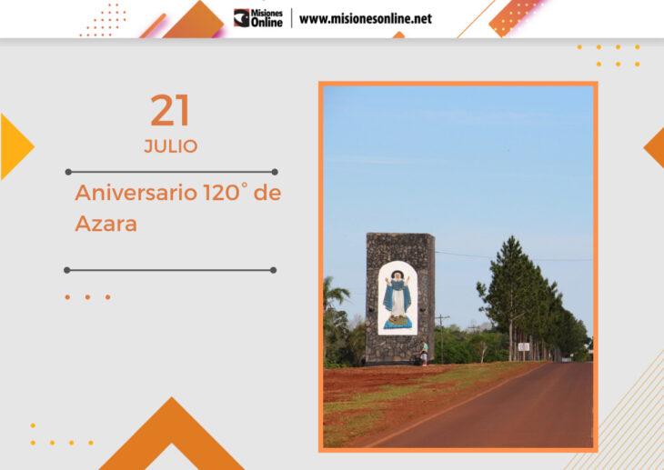 La localidad misionera de Azara celebra el aniversario N° 120 de su fundación