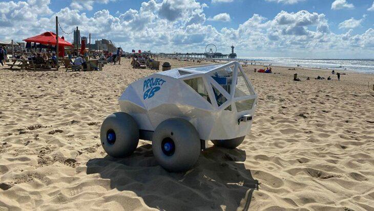 BeachBot: El robot que junta las colillas de cigarrillo de la playa