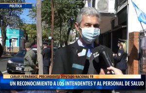 """PASO 2021: """"Mi precandidatura es un reconocimiento a los intendentes y al personal de salud de Misiones"""", enfatizó Carlos Fernández"""