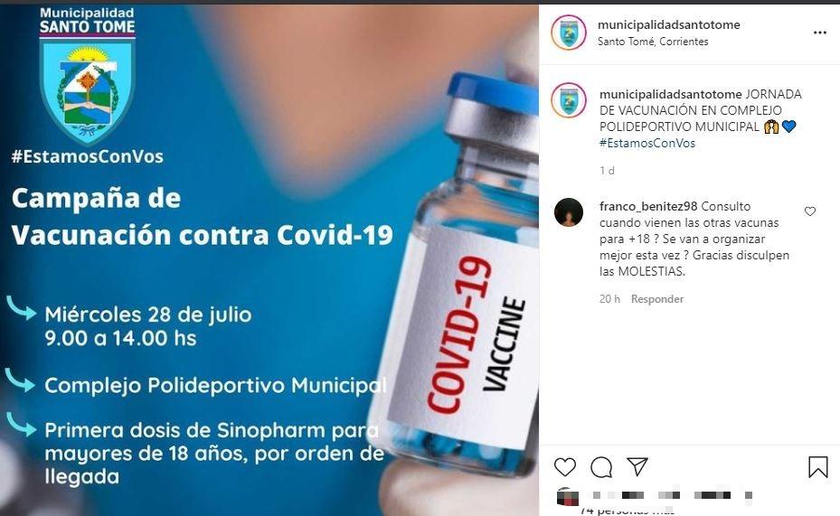 Inmunización en Corrientes