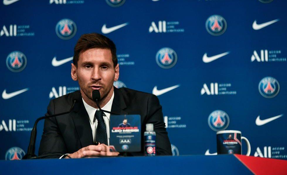 Messi fue presentado en el PSG