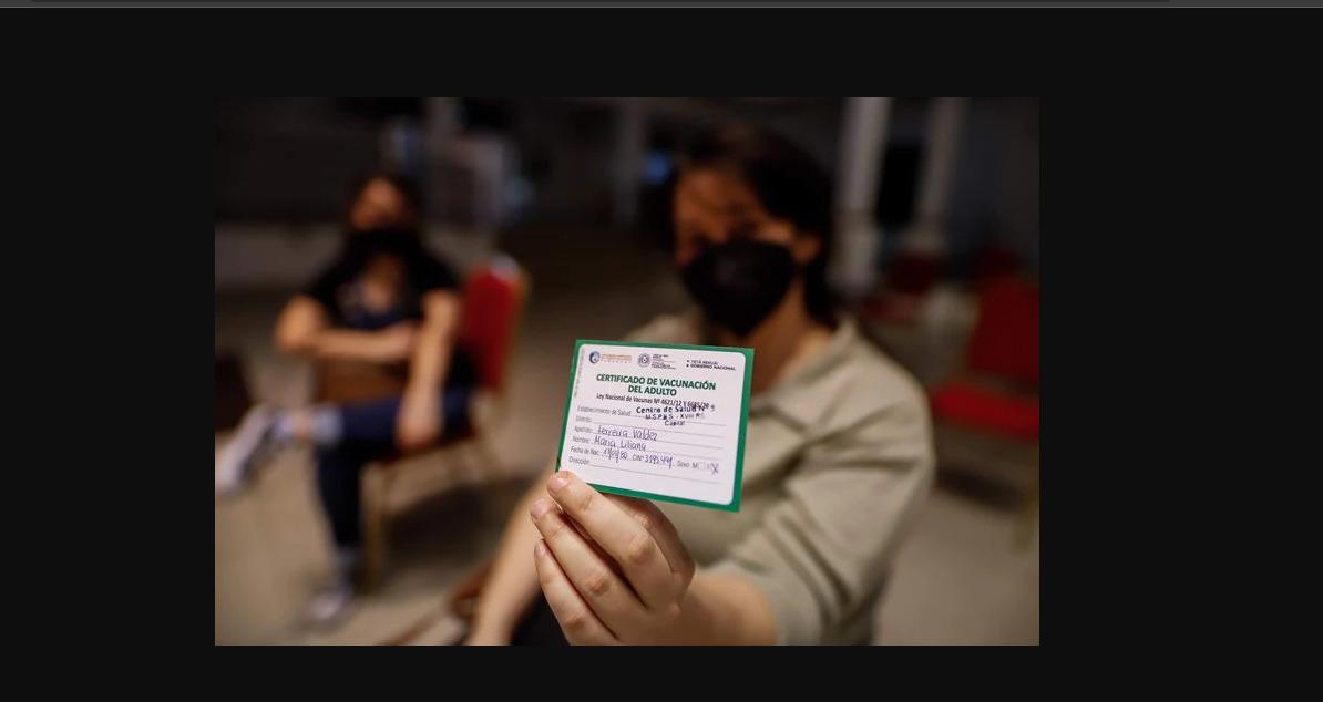 tarjeta de vacunación en Paraguay
