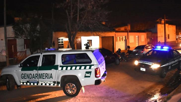 Gendarmería allanó una casa en Paso de los Libres donde operaba una banda dedicada al delivery narco