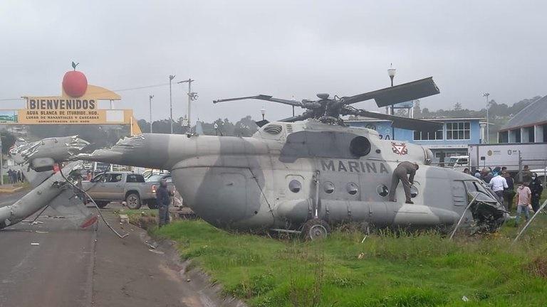 caida de un helicóptero en méxico