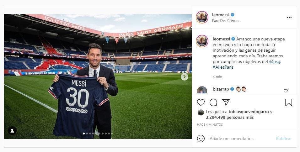 El mensaje de Lionel Messi tras su presentación