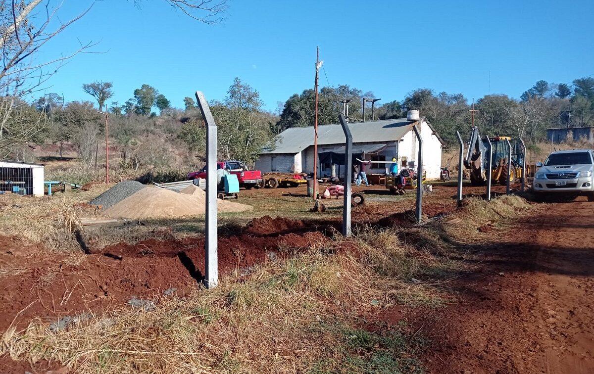 nueva toma de agua sobre el arroyo Mbocay