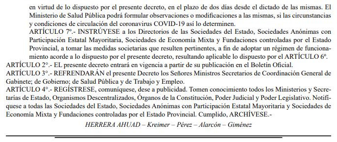 Coronavirus   Herrera Ahuad decretó el regreso a la presencialidad de todos los empleados de la administración pública de Misiones mayores de 60 años