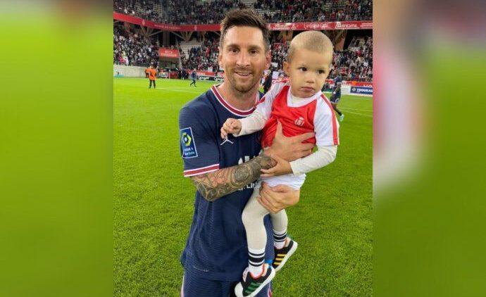 tierno gesto de Messi