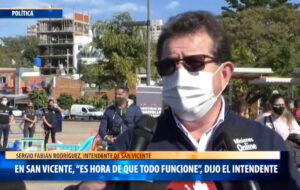 """Fiestas Seguras: San Vicente se adhiere al protocolo provincial, """"porque ya es hora de que todo funcione"""", dijo el intendente Rodríguez"""