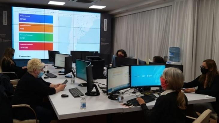 Salud de la Nación realizó un simulacro de examen único digital para miles de aspirantes a residencias de todo el país