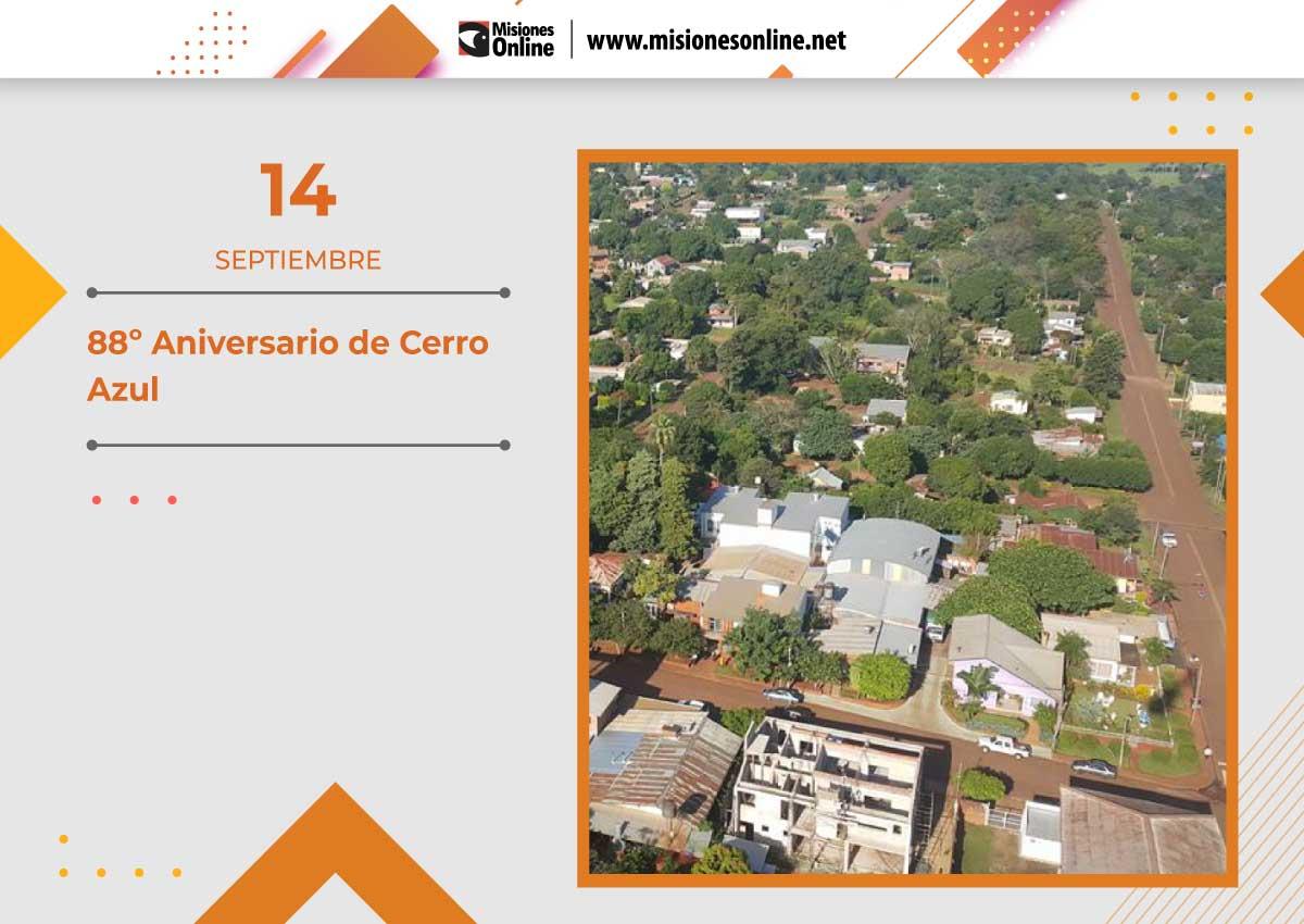 Cerro Azul cumple 88 años