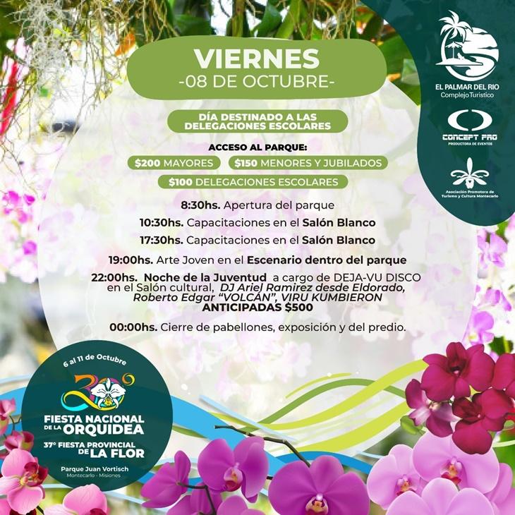 Del 6 al 11 de octubre será la Fiesta Nacional de la Orquídea y Provincial de la Flor