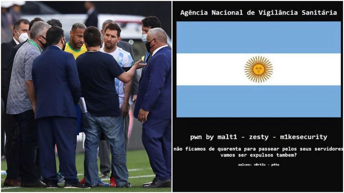 Aumenta la tensión por el bochornoso Brasil-Argentina: hackearon el sitio de Anvisa