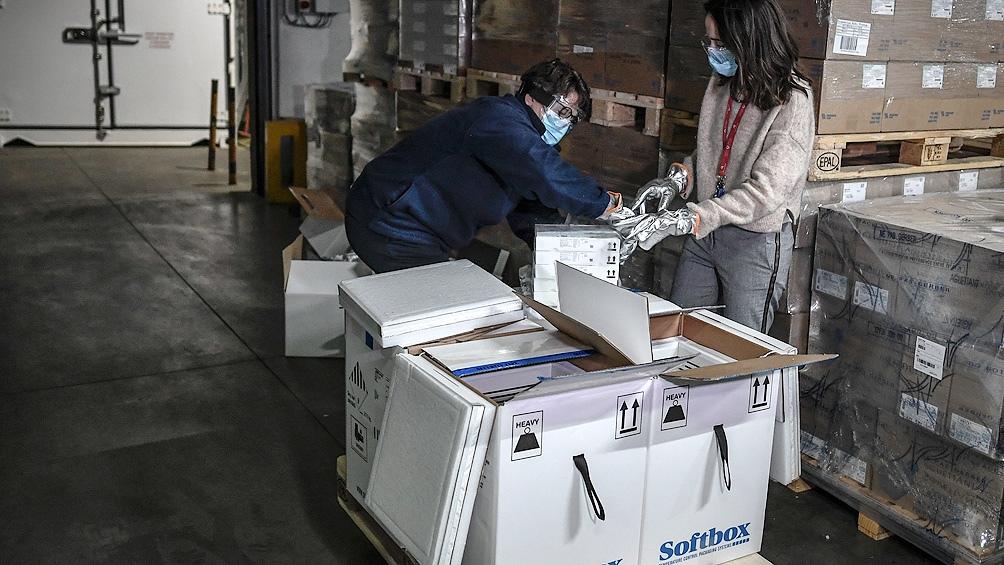 vacunas Pfizer llega a la Argentina