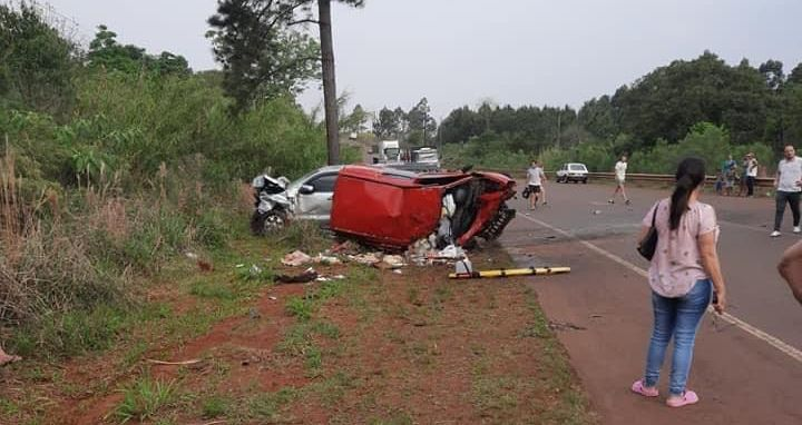 San Vicente   Murió un hombre en un violento choque frontal sobre la ruta 13 y buscan intensamente al conductor del otro vehículo