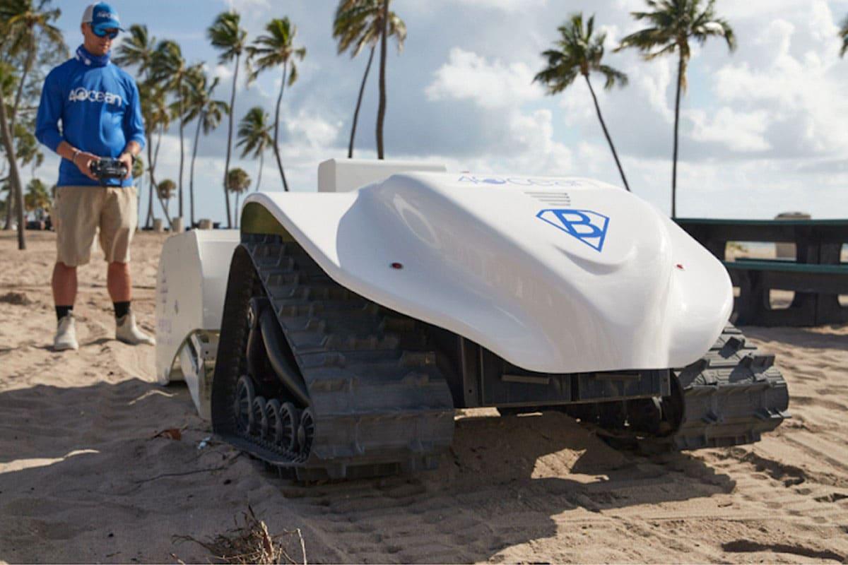 robot que limpia las playas