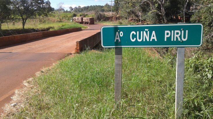 Avanza la obra del puente del Arroyo Cuña Pirú e inicia la pavimentación de uno de los accesos a Tobuna