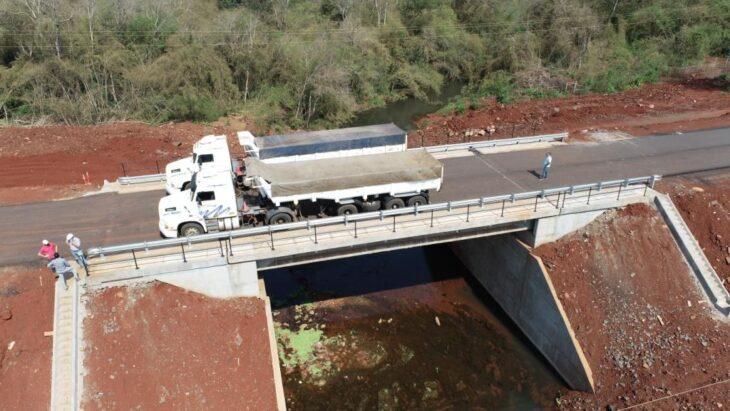 El nuevo puente en la Ruta Provincial 19 fue terminado por Vialidad Provincial