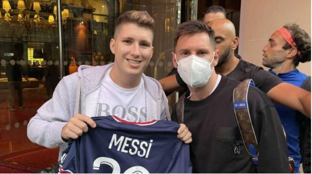 misionero se sacó una foto con Messi