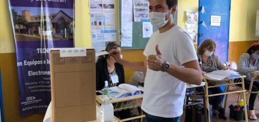 PASO 2021 | En la interna de JXC emitió su voto en Apóstoles, el precandidato a Diputado Nacional, Pedro Puerta
