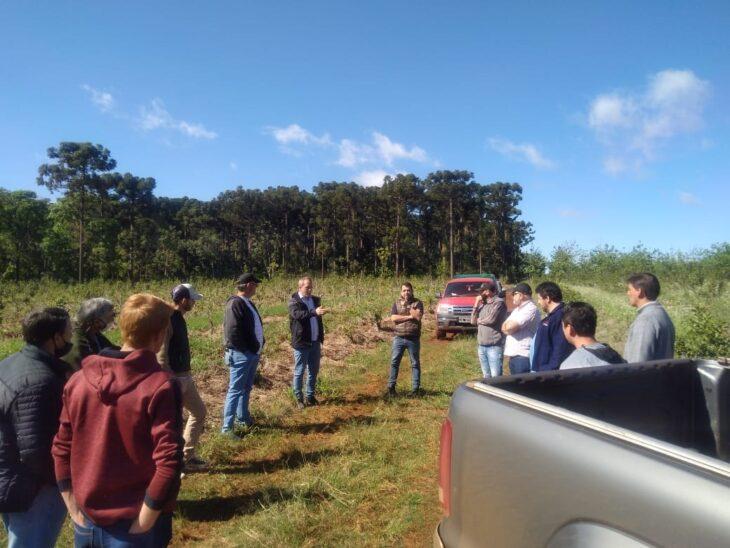 Reunión con productores para evaluar la aplicación digital de la trazabilidad de hoja verde de yerba mate