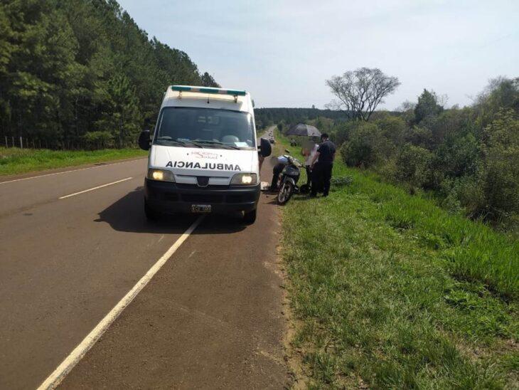 Hubo cuatro heridos en dos accidentes con motos en Los Helechos y Mártires