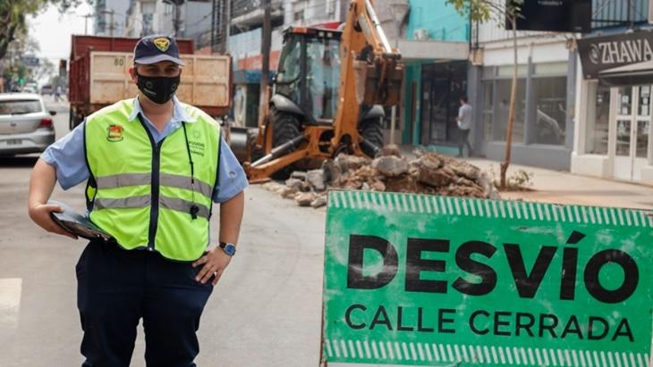 Posadas | Por obras, la intersección de calles Ayacucho y Entre Ríos permanecerá cortada al tránsito