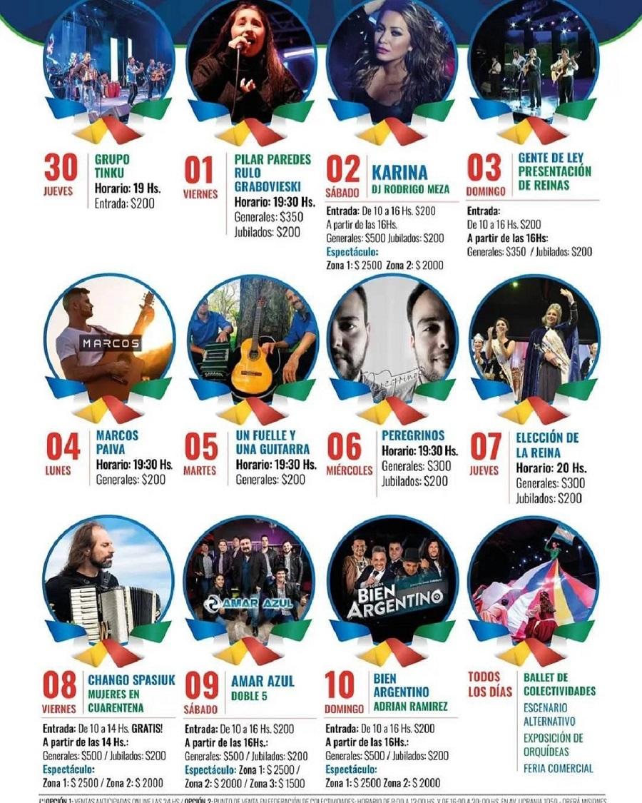 Fiesta Nacional del Inmigrante: Chango Spasiuk, Karina y Amar Azul, entre los artistas que estarán presente en la 41°edición