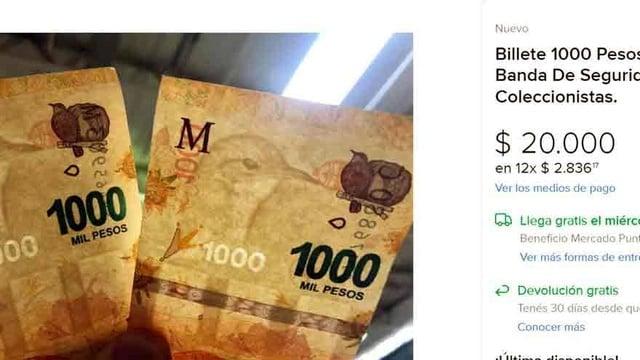 billetes de $1000