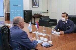 Obras por 3 mil millones de pesos en Misiones y la participación en la hidrovía, los temas centrales que abordaron Herrera Ahuad y Guerrera