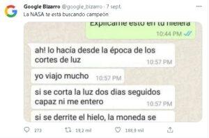"""El truco de un argentino que se hizo viral en Twitter: """"La NASA te está buscando, campeón"""""""