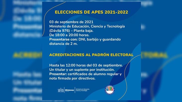 elecciones de autoridades de APES