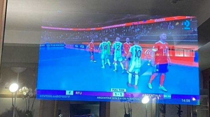 televisor de Lionel Messi