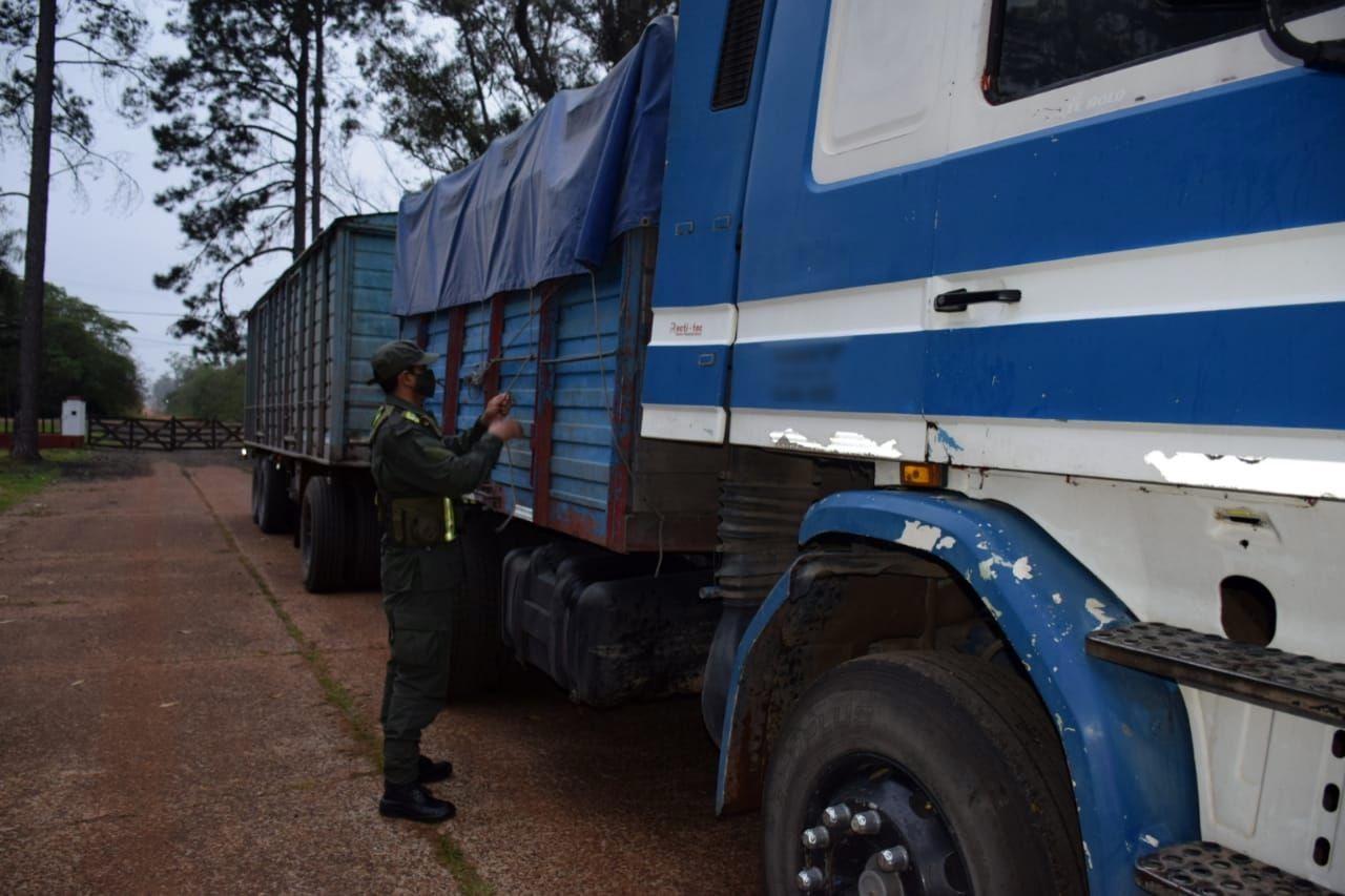 soja en camiones hacia Misiones