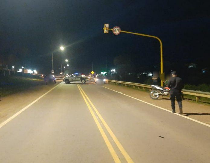 Motociclista alcoholizado embistió a una mujer