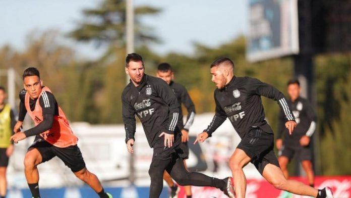 Selección Argentina entrenó