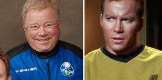Capitán Kirk de Star Trek viajó al espacio