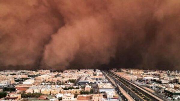 tormenta de arena en Brasil